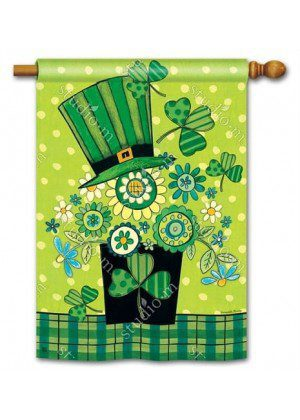 Blooming Irish House Flag | St. Patrick's Day Flags | Yard Flags | cool Flag