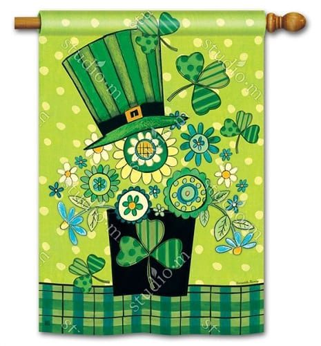 Blooming Irish House Flag