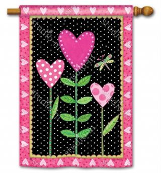 Love Sprouts House Flag | Valentine's Day Flags | Yard Flags | Cool Flags