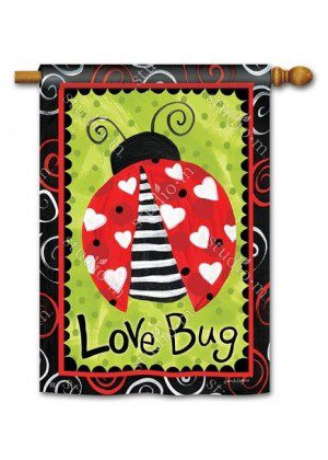 Love Bug House Flag | Valentine's Day Flags | Yard Flags | Cool Flags