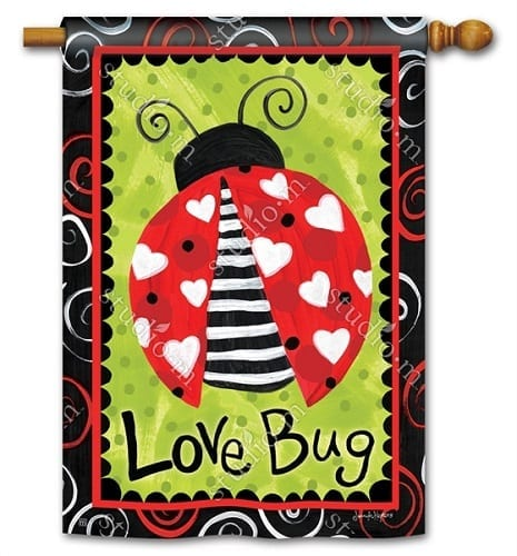 Love Bug Flag | Decorative Flags | House Flags | Garden House Flags