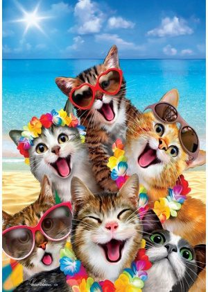 Beach Kittens Flag | Summer Flags | Animal Flags | Spring Flag | Cool Flag