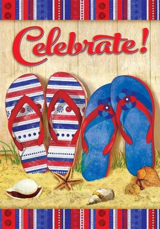 Celebrate Flip Flops Flag | Summer Flags | Inspirational Flags | Cool Flags