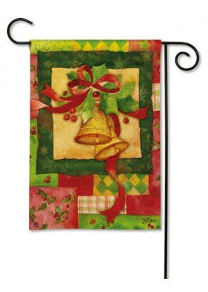 Patchwork Bells Garden Flag | Christmas Flags | Holiday Flag | Yard Flags