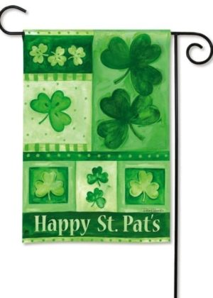 Shamrock Collage Garden Flag | St. Patrick's Day Flags | Holiday Flags