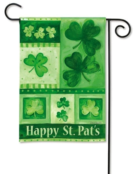 Shamrock Collage Garden Flag