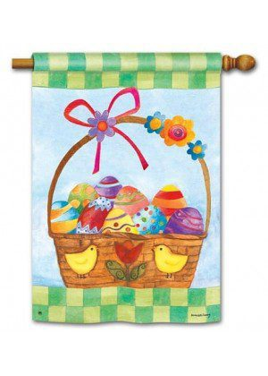 Basket for the Bunny House Flag | Easter Flags | Holiday Flags | Yard Flag