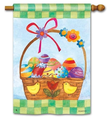 Basket for the Bunny House Flag | Easter Flags | House Flag | Garden House Flags