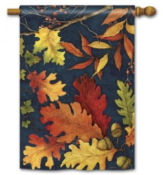 Fall Foliage House Flag | Fall Flags | Floral Flags | Yard Flags | Cool Flags