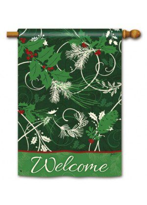 Christmas Scrolls House Flag | Christmas Flags | Holiday Flags | Flags