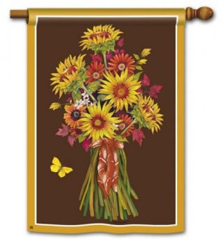 Sunflower Bouquet House Flag | Fall Flags | Floral Flags | Yard Flags