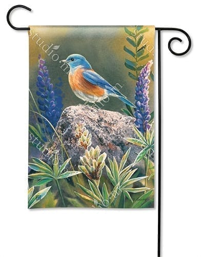 Flower Watching Garden Flag
