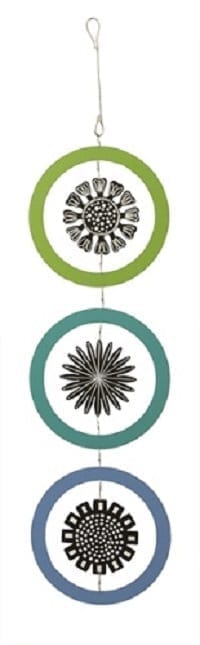 Black, Blue, and Green Mobile by Outdoor Kinetic Art