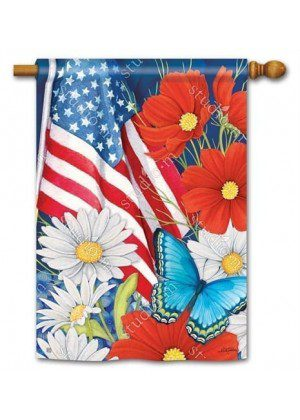 Red, White and Blue house Flag | Patriotic Flags | 4th of July Flags | Flags