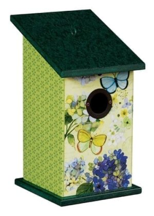 Butterfly Haven Birdhouse | Decorative Birdhouses | Garden House Flags