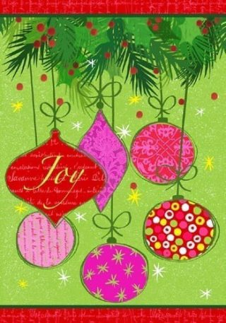 Joy Ornaments Flag | Christmas Flags | Two-sided Flags | Holiday Flags