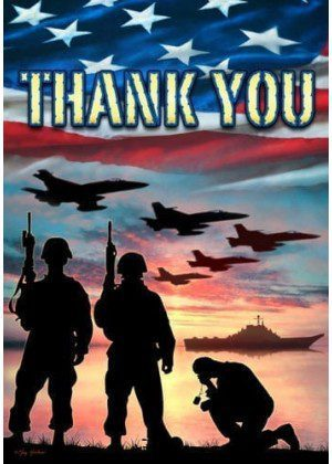 Thank You Troops Flag   Decorative Flags   Flags   Garden House Flags