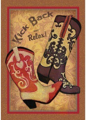 Kick Back Boots Flag | Decorative Flag | House Flag | Garden House Flags