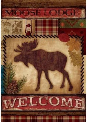 Welcome Moose Flag | Decorative Flags | Flags | Garden House Flags