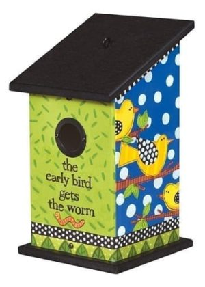 Early Birds Birdhouse | Garden Decor | Birdhouses | Garden House Flags