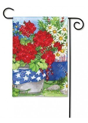 Patriotic Floral Garden Flag | Patriotic Flags | 4th of July Flags | Yard Flags