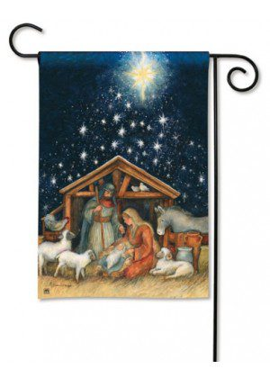 Holy Night Garden Flag | Christmas Flags | Holiday Flags | Yard Flags