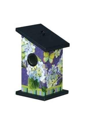 Hydrangea Beauties Wren Birdhouse | Birdhouses | Garden House Flags