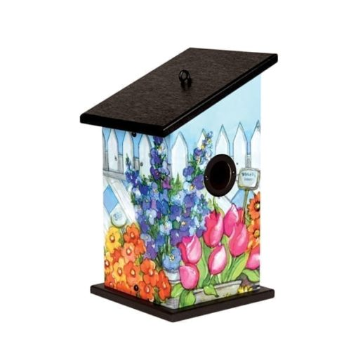 Lattice Flowers Birdhouse