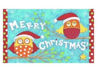 Christmas Owls Doormat | Doormats | MatMates | Garden House Flags