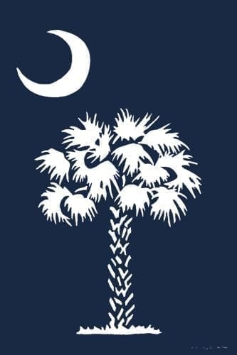 Palmetto Blue Flag | Decorative Flags | House Flags | Garden House Flags