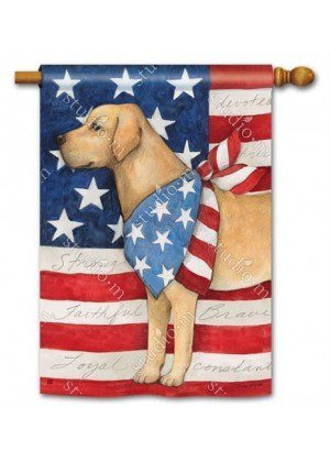 Patriotic Pup House Flag | Patriotic Flags | 4th of July Flags | Summer Flag