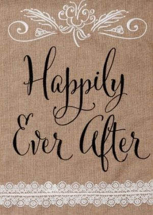 Happily Ever After Burlap Flag | Burlap Flags | Wedding Flags | Cool Flags