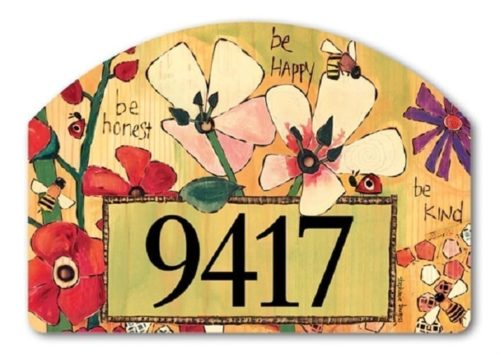 Bee-lieve in Beauty Yard Sign | Address Plaques | Garden House Flags