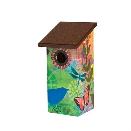 Butterflies and Friends Bluebird House Birdhouse