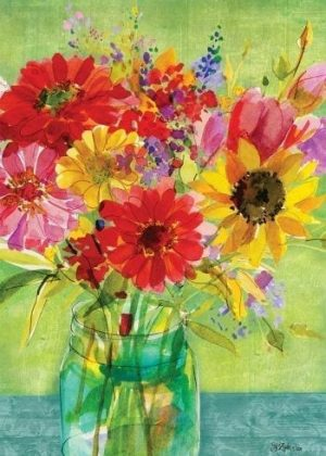 Watercolor Wildflowers Flag   Spring Flags   Summer Flags   Floral Flags