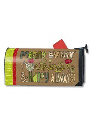 Merry Everything Mailbox Cover | Mailwraps | Christmas Mailbox Covers