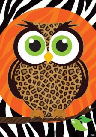 Leopard Owl Flag | Fall Flags | Halloween Flags | Holiday Flags | Flags