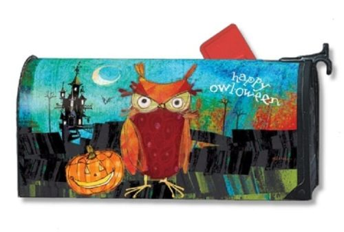 Happy Owloween MailWraps Mailbox Cover