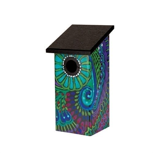 Paisley Pattern Bluebird House Birdhouse