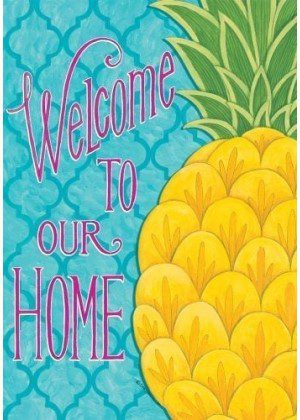 Pineapple Welcome Home Flag | Welcome Flags | Double Sided Flags