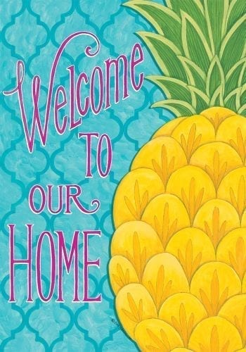 Pineapple Welcome Home Flag | Decorative Flags | Garden House Flags