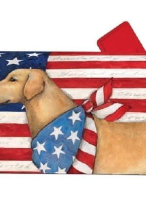 Patriotic Pup Mailbox Cover | Decorative Mailwraps | Garden House Flags