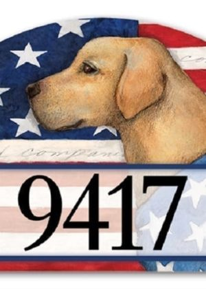 Patriotic Pup Yard Sign | Address Plaques | Garden House Flags