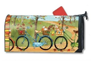 Autumn Bike Ride Mailbox Cover | Decorative Mailwraps | Mailbox Covers