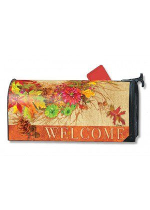 Autumn Wreath Mailbox Cover | Decorative Mailwraps | Mailbox Covers