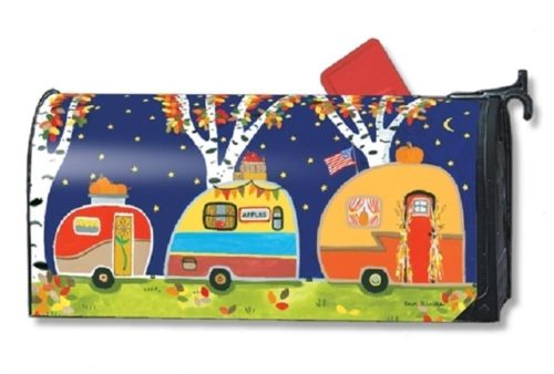 Fall Camping Mailbox Cover | Decorative Mailwraps | Garden House Flags