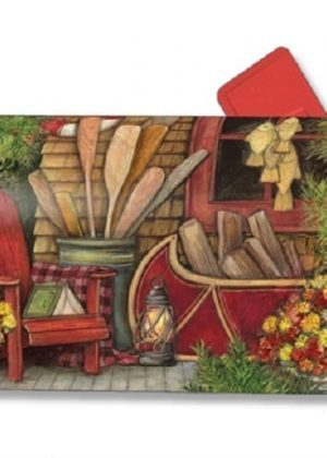 Fall Relaxation Mailbox Cover | Decorative Mailwrap | Garden House Flags