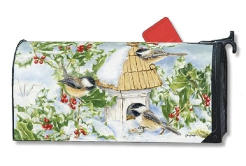 Chickadee Welcome Mailbox Cover | Mailwraps | Garden House Flags