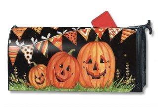 Party Time Pumpkins Mailbox Cover | Mailbox Covers | Mailwraps