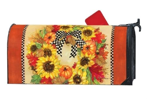 Sunflower Wreath Mailwraps Mailbox Cover